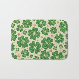 Lucky Shamrock Four-leaf Clover Pattern Bath Mat