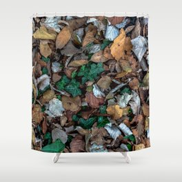 Autumnal leaves bed Shower Curtain