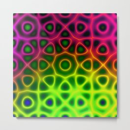 Electric Octagon Metal Print