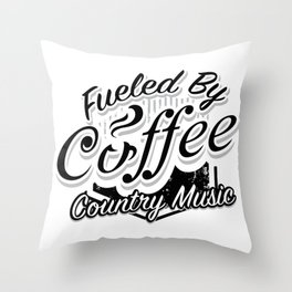 Coffee And Country Music Funny Musicians Gifts Throw Pillow