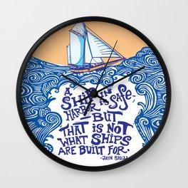 To Be at Sea Wall Clock