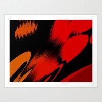 splatter Art Prints featuring Splatter by ArtsandStyles