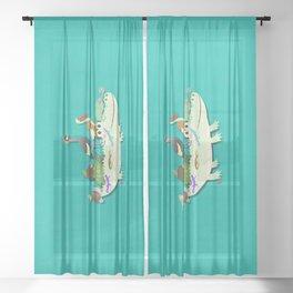 Crocodile Sheer Curtain