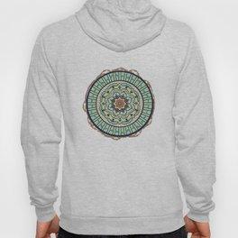 Ribbon Lotus Mandala in Terra and Turquoise Hoody