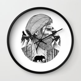 WAITING FOR THE WINTER Wall Clock