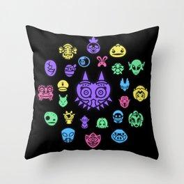 Mask Collector (Majora's Mask) Throw Pillow