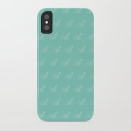 Geo Cat Mint iPhone Case