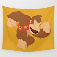donkey Wall Tapestries featuring Donkey Kong(Smash) by ejgomez