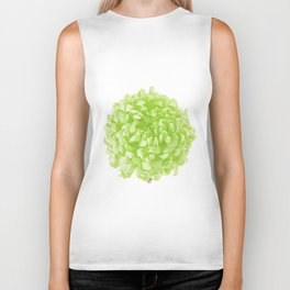 Green Pop Art Inspired Flower Biker Tank