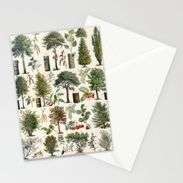 Adolphe Millot - Arbres B - French vintage botanical poster Stationery Cards