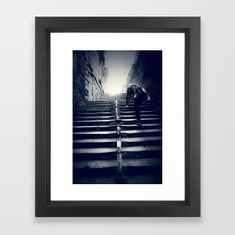 heavy today, blue tomorrow Framed Art Print