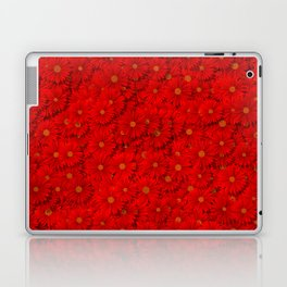 red daisy flowers Laptop & iPad Skin