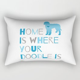 Home is where your Doodle is, Art for the Labradoodle or Goldendoodle dog lover Rectangular Pillow
