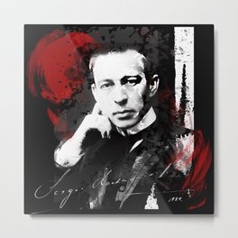 Sergei Rachmaninoff - Russian Pianist, Composer, Conductor Metal Print
