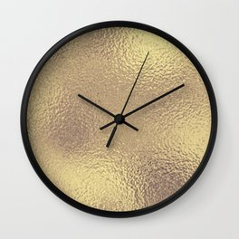 Simply Metallic in Antique Gold Wall Clock