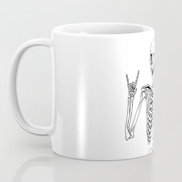 Rock and Roll Skeleton Coffee Mug