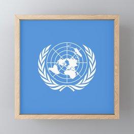 United Nations Flag Framed Mini Art Print