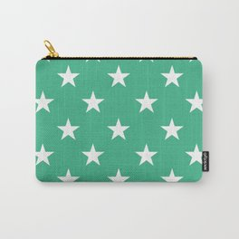 Stars (White/Mint) Carry-All Pouch