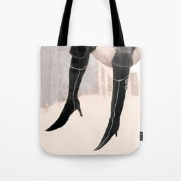 Lady with shoes  Tote Bag