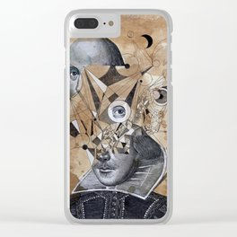 SHAKESPEARE AS AN ABSTRACT CONCEPT Clear iPhone Case