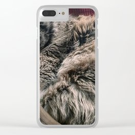 Moses the cat Clear iPhone Case