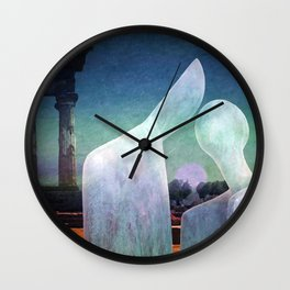 And the sun disappears behind the temples Wall Clock