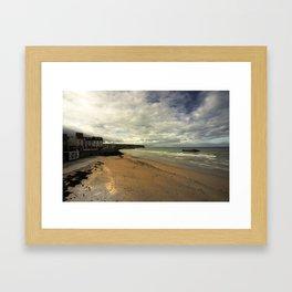 The Beach at Arrowmanches-les-bains Framed Art Print