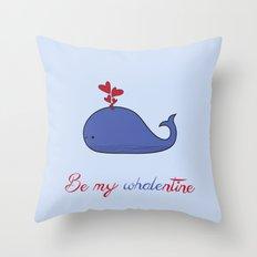 Whalentine Throw Pillow