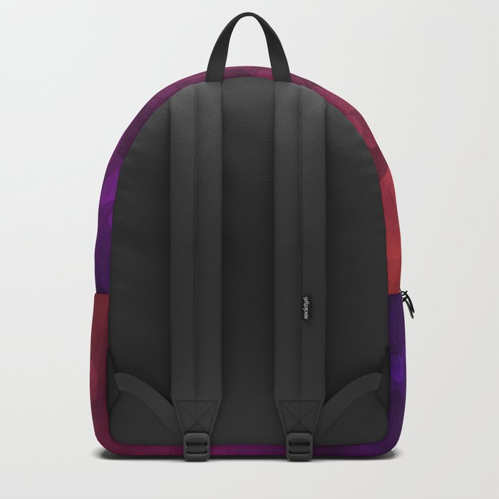 Abstraction . Red purple pattern . Backpack