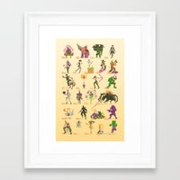 xbox Framed Art Prints featuring Xbox A-Z by Sam Moore
