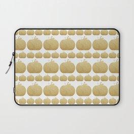 Gold Glitter Pumpkin Laptop Sleeve