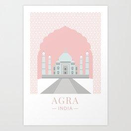 Taj Mahal, Agra, India Kunstdrucke