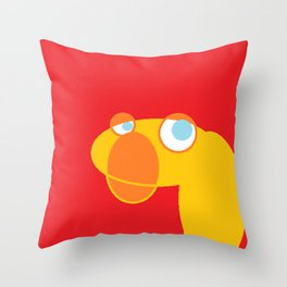 Disappointed Sock Monkey Throw Pillow