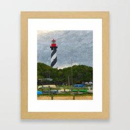 St. Augustine Lighthouse Framed Art Print