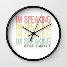 Im Speaking Kamala Harris Wall Clock