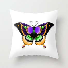 Spooky Butterfly Throw Pillow