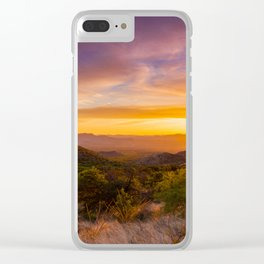 Sunset Over Mountains Near Green Valley, Arizona Clear iPhone Case