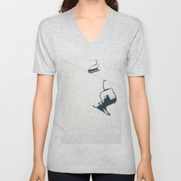 Chair lift shadow Unisex V-Neck
