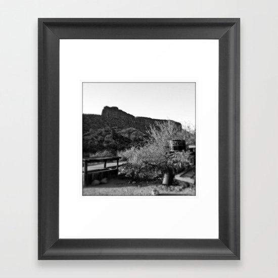 Water in the Desert Framed Art Print