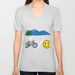 "Big fan of ""Mountain Bike""? Grab this awesome tee and wear them anytime. Stay creative and positive! Unisex V-Neck"