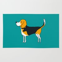beagle Area & Throw Rugs featuring Beagle by MaJoBV