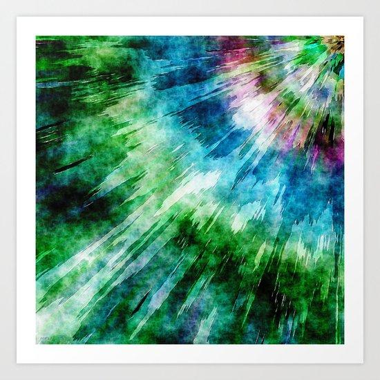 Abstract Grunge Tie Dye Art Print