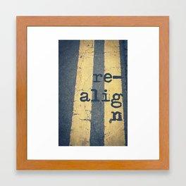 realign Framed Art Print