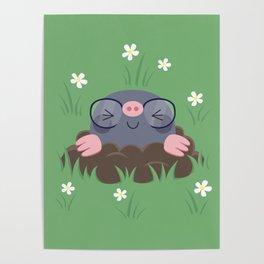 Cute little moles Poster