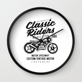 authentic clasic rider Wall Clock