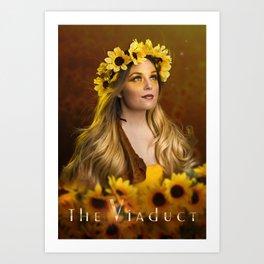The Viaduct Poster: Sunflower Art Print
