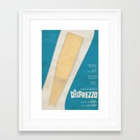 godard Framed Art Prints featuring Il Disprezzo (Contempt) Jean-Luc Godard Movie Poster by Stefanoreves