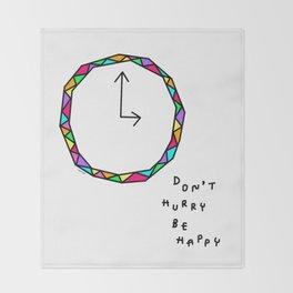 Don't Hurry - clock illustration Throw Blanket