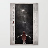 2001 a space odyssey Canvas Prints featuring 2001: A Space Odyssey by Digital Theory