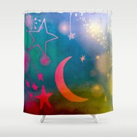 concert Shower Curtains featuring Concert for Orpheus by Angela Pesic